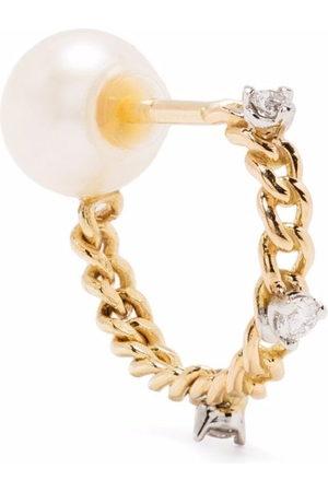 DELFINA DELETTREZ 18kt yellow Unchain My Art diamond earring