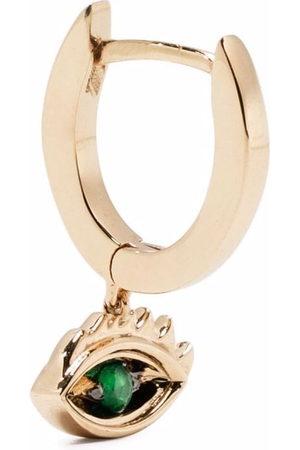 DELFINA DELETTREZ Women Earrings - 9kt yellow Micro-Eye Piercing emerald earring