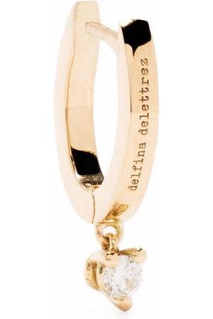 Delfina Delettrez Women Earrings - 18kt yellow huggie diamond drop earring