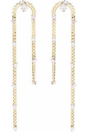 DELFINA DELETTREZ 18kt yellow Unchain My Art diamond earrings