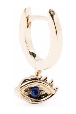 DELFINA DELETTREZ 9kt yellow Micro-Eye Piercing sapphire earring
