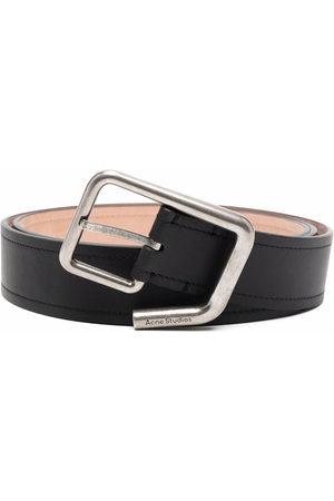 Acne Studios Belts - Engraved-logo buckle belt