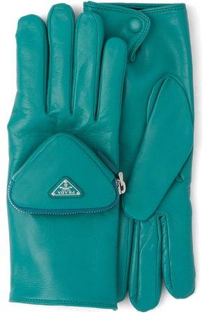 Prada Pouch-detail logo gloves