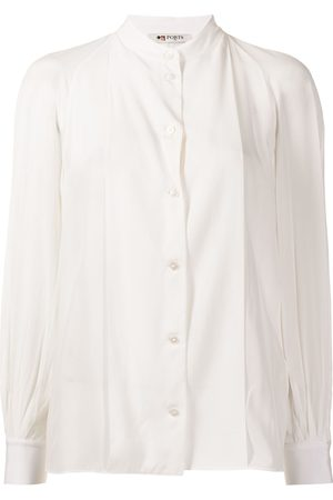 PORTS 1961 Women T-shirts - Collarless silk shirt