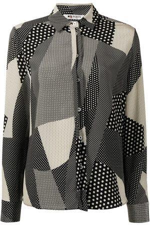 PORTS 1961 Spotty patchwork silk shirt