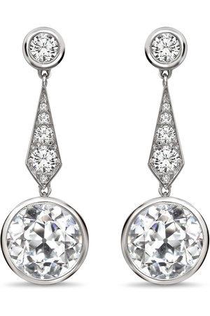 Pragnell 18kt white gold diamond drop earrings