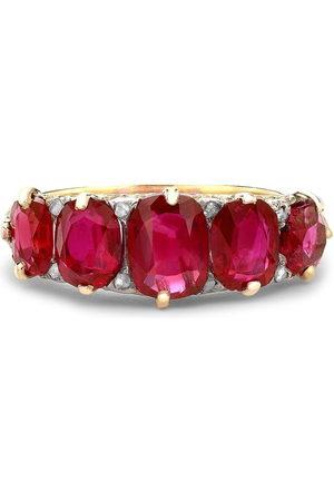 Pragnell 18kt yellow Victorian Burmese ruby ring