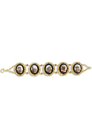 Pragnell 18kt yellow Victorian Mosaic Roman Revival bracelet