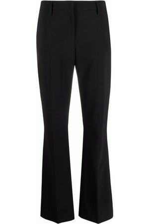 PIAZZA SEMPIONE Virgin wool-blend flared-cuff trousers
