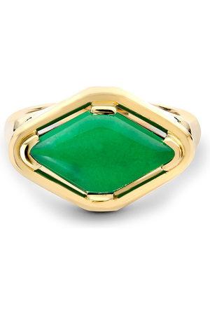 Pragnell Women Rings - 18kt yellow Contemporary Jadeite ring