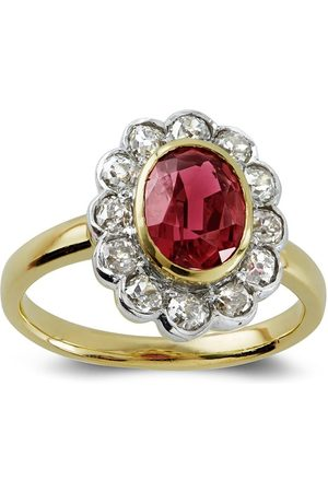Pragnell 18kt yellow and white spinel ring