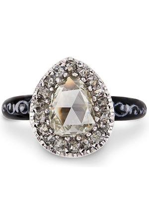 Pragnell Women Rings - 18kt yellow and silver Georgian diamond ring