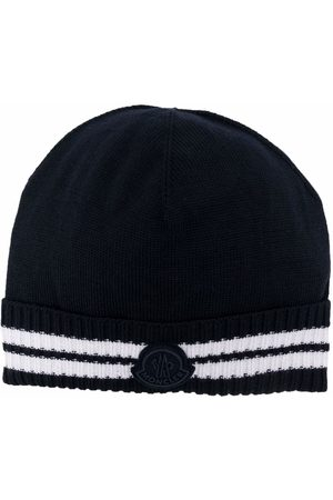 Moncler Logo-patch ribbed beanie