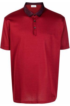 Lanvin Contrasting-collar polo shirt