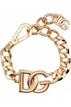 Dolce & Gabbana Oversized-logo curb chain bracelet