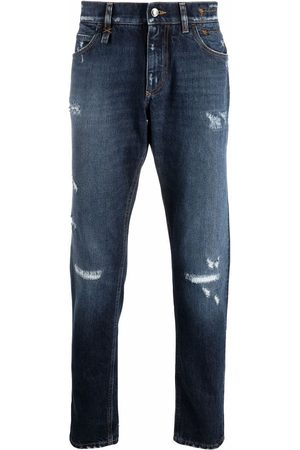 Dolce & Gabbana Men Straight - Distressed ripped jeans