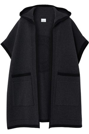 Burberry Logo-jacquard knitted cape