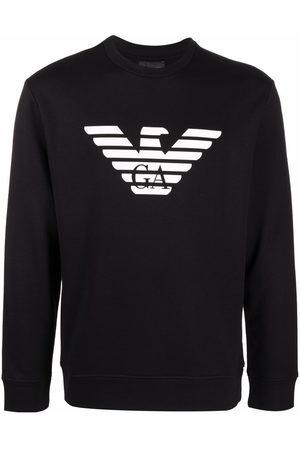 Emporio Armani Men Sweatshirts - Logo-print cotton sweatshirt