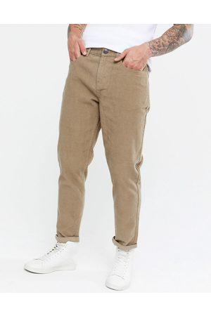 New Look Men Trousers - Tapered cord trousers in tan