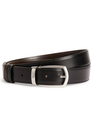 Mont Blanc Belts - Leather Horseshoe Oblong Buckle Belt