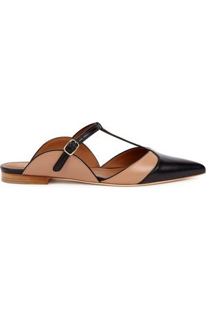 Malone Souliers Imogen Panelled Leather Mules