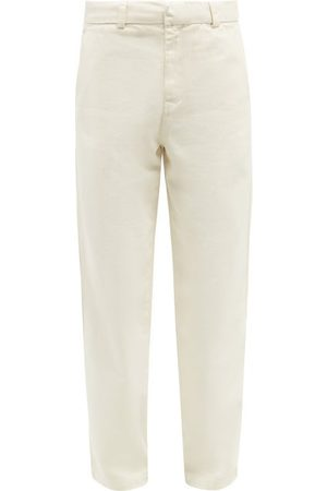 Another Aspect Men Trousers - Garment-dyed Cotton-twill Chino Trousers - Mens