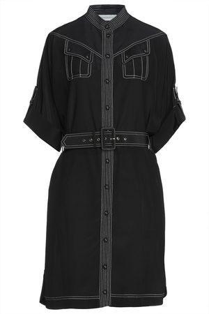ZIMMERMANN Woman Belted Silk Crepe De Chine Shirt Dress Size 0