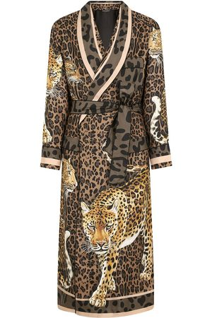 Dolce & Gabbana Leopard-print silk robe
