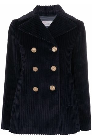 RED Valentino Button-embellished corduroy peacoat