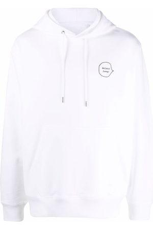 Helmut Lang Puppy-print logo hoodie