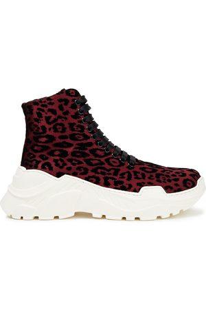 TIBI Woman Leopard-print Flocked Satin Sneakers Size 37