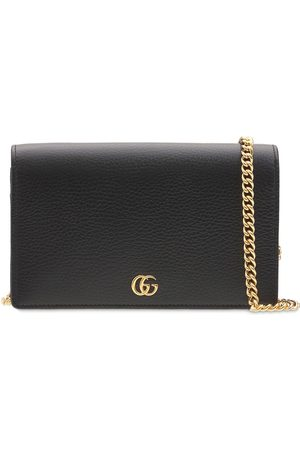 Gucci Gg Marmont Leather Mini Chain Wallet