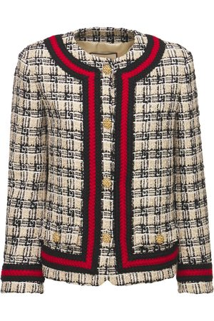 Gucci Multicolor Wool Blend Tweed Jacket