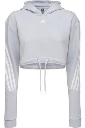 adidas Cropped Sweatshirt Hoodie