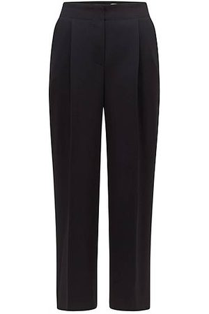 BOSS Relaxed-fit trousers in Japanese crepe with natural stretch