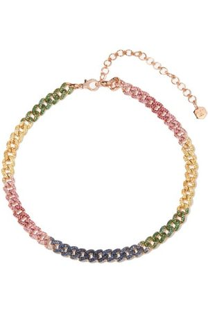 Shay Women Necklaces - Rainbow Diamond & 18kt Rose-gold Necklace - Womens - Multi