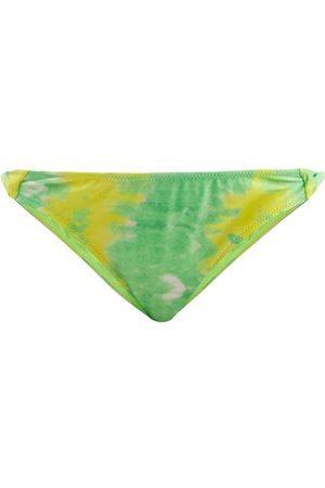 Ganni Abstract-print Twist-side Bikini Briefs - Womens - Multi