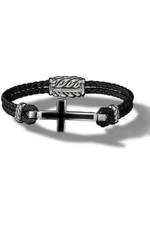 David Yurman Men Bracelets - Cross Station leather bracelet