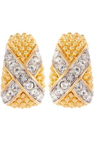 Susan Caplan Vintage 1980s D'Orlan crystal-embellished earrings