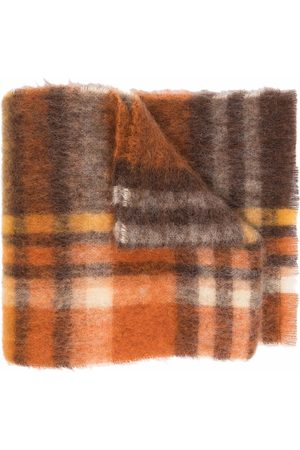 Acne Studios Scarves - Checked knitted scarf