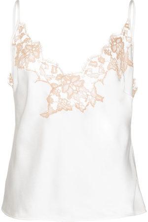 Kiki de Montparnasse Women Tank Tops - Lace camisole silk top