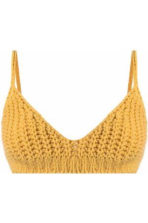 Alanui Women Balcony Bras - Knitted bralette top