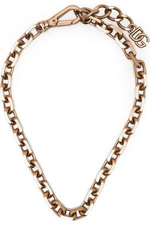 Dolce & Gabbana Men Necklaces - Logo-plaque chain necklace