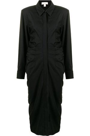 Materiel Ruched-waist shirt dress