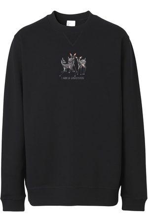 Burberry Deer-embroidered cotton sweatshirt