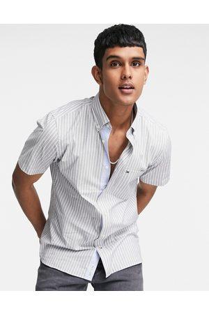 Tommy Hilfiger Men Short sleeves - Soft stripe short sleeve shirt in navy
