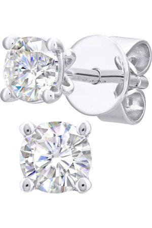 GOLDSMITHS Women Earrings - 18ct White Gold 0.50cttw Diamond 4 Claw Stud Earrings