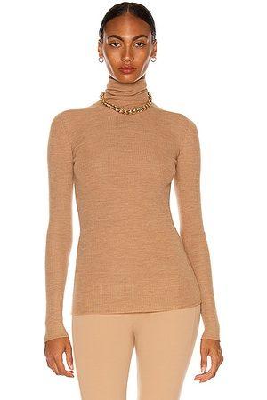 WARDROBE.NYC Turtleneck Sweater in Camel