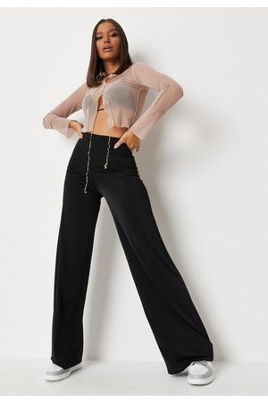 Missguided Slinky Wide Leg Trousers