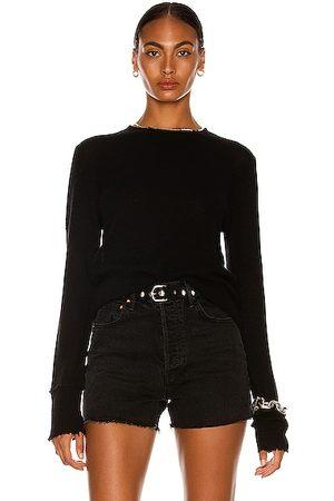 R13 Cashmere Distressed Edge Sweater in